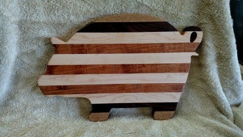 Pig 18 - 606. White Oak, Black Walnut, Hard Maple & Mesquite.