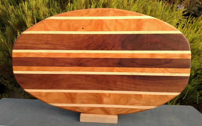 Large Serving Piece 18 - 03. Cherry, Hard Maple & Black Walnut.