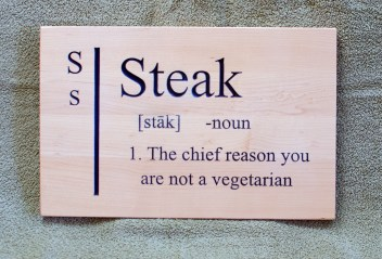 CNC Sign 18 - 95 Steak
