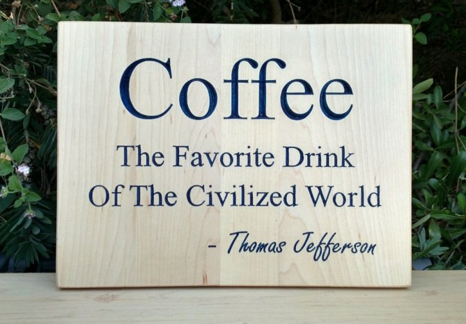 CNC Sign 18 - 72 Coffee