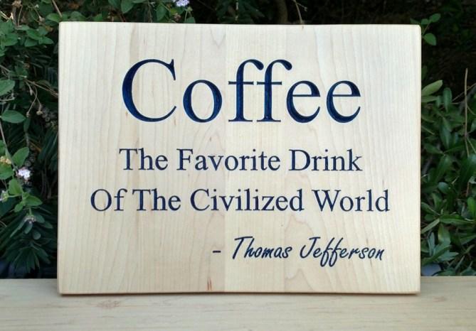 CNC Sign 18 - 72 Coffee