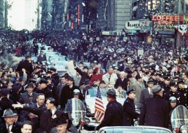 New York ticker tape parade for the returning hero.