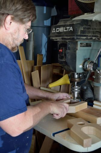 Turning the drill press into a drum sander is the only way to do inside curves.
