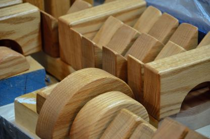 """Red Oak, 1-1/2"""" thick."""