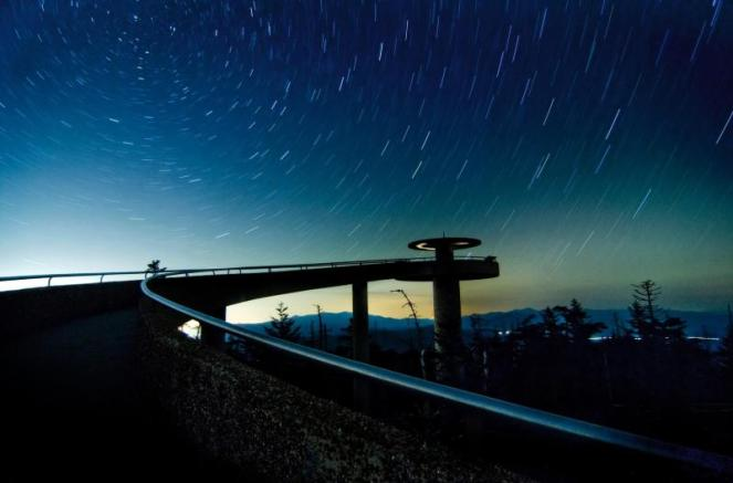 Starry Sky Over Clingmans Dome. From the National Park Service website.