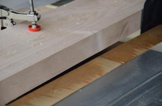 ... allowing the blade to cut the board, as close as possible to the opposite, rough edgee. You're left with a smooth face, suitable for further processing on the saw.