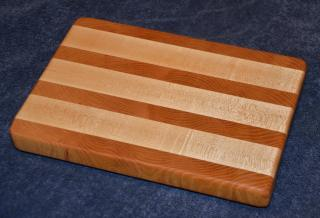 "Small Board # 15 - 04. Honey Locust (end grain) and Hard Maple (edge grain). 8"" x 11"" x 1""."