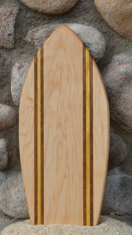 Small Surfboard # 15 - 09. Hard Maple, Teak & Yellowheart.