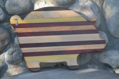 Pig # 15 - 07. Walnut, Maple, Yellowheart, Padauk & Honey Locust.