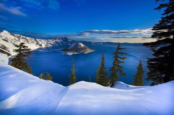 No place on earth combines a deep blue lake, cliffs & islands like Crater Lake National Park. Photo by Vince Warren. Tweeted by the US Department of the Interior, 12/13/15.