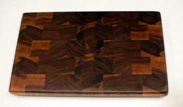 """Small Board 16 - 001. Black Walnut. End Grain. 9"""" x 14"""" x 15/16""""."""