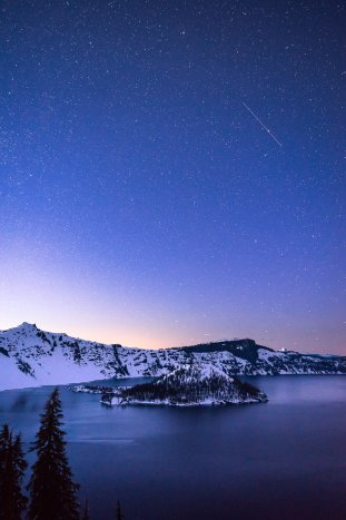 There's something special about stargazing in Oregon's Crater Lake National Park. Photo by Adam McKibben. Tweeted by the US Department of the Interior, 4/19/16.