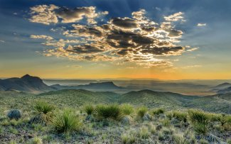 Big Bend National Park at sunset. Photo by Saurabh Ray. Tweeted by the US Department of the Interior, 4/15/16.