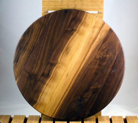 "Lazy Susan 16 - 014. Black Walnut. 17"" diameter."