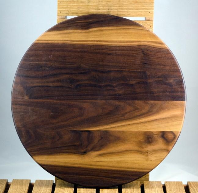 "Lazy Susan 16 - 019. Black Walnut. 17"" diameter."