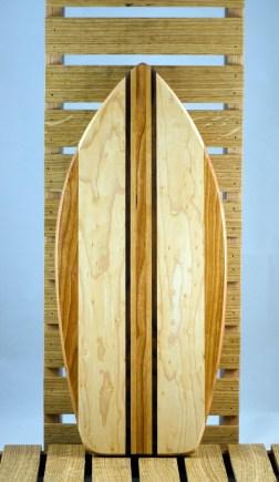 Medium Surfboard 16 - 03. Cherry, Hard Maple & Black Walnut.