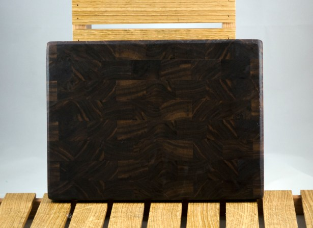 "Small Board 16 - 013. Black Walnut. End Grain. 8"" x 11"" x 1""."