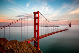 An alternative, foggy view of the Golden Gate Bridge. Photo by Dave Gordon. Tweeted by the US Department of the Interior, 8/23/16.