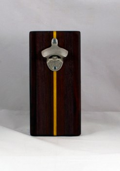 Magic Bottle Opener 16 - 135. Purpleheart, Bubinga, Bloodwood & Yellowheart. Double Magic.