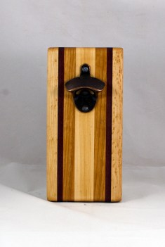 Magic Bottle Opener 16 - 137. Birdseye Maple, Bloodwood & Cherry.. Double Magic.