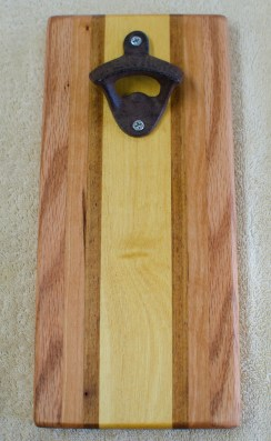 Magic Bottle Opener 190. Red Oak, Cherry, Teak & Yellowheart. Single Magic.