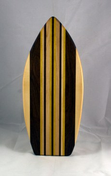 Medium Surfboard 16 - 12. Hard Maple, Black Walnut & Yellowheart.
