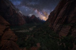 It doesn't get any more beautiful than this: the Milky Way as seen from Observation Point in Utah's Zion National Park. Photo by Joshua Snow. Tweeted by the US Department of the Interior, 12/9/16.