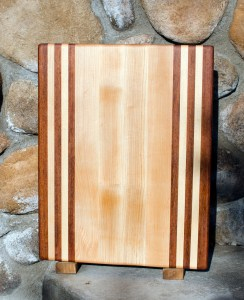 "Cutting Board 17 - 102. Jatoba & Hard Maple. Edge Grain. 12"" x 16"" x 1-1/4""."