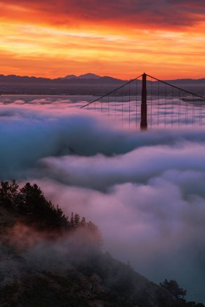 California dreamin' with this gorgeous foggy sunrise at Golden Gate National Monument. Photo by Vincent James. Tweeted by the US Department of the Interior, 2/3/17.