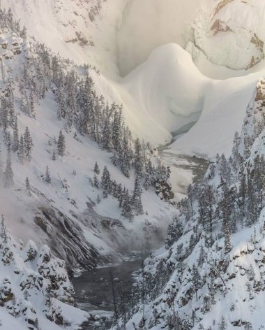 A most fascinating winter sight: Lower Falls ice dam at Wyoming's Yellowstone National Park. Tweeted by the US Department of the Interior, 2/1/17.