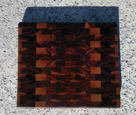 "Small Board 17 - 218. Black Walnut. End Grain. 11-1/4"" x 9-5/8"" x 1""."