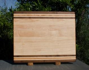 "Cutting Board 17 - 111. Black Walnut, Hard Maple & Cherry. 14"" x 18"" x 1-1/4"". Commissioned Piece."