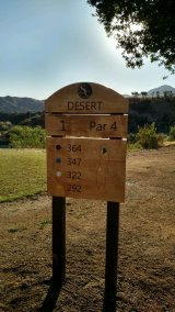 Hole 1, Desert course