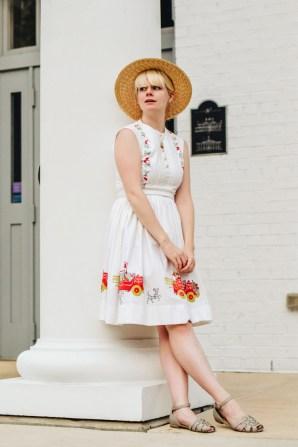 dress with dalmatian dog print