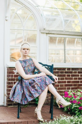 mox and socks modcloth paisley dress gold seychelles heels (6)