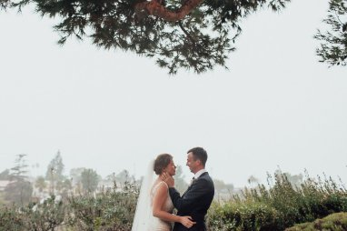 Bride and Groom wedding portraits. Bride and Groom holding each other. Outdoor wedding. Moxie Bright Events.