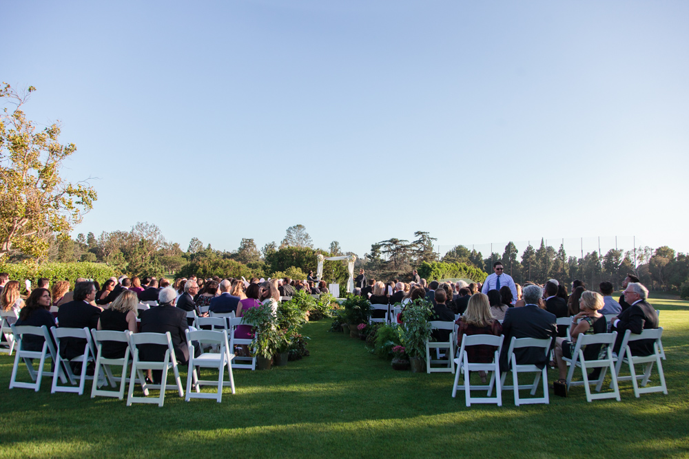 wedding ceremony at Hillcrest Country Club, Los Angeles, CA