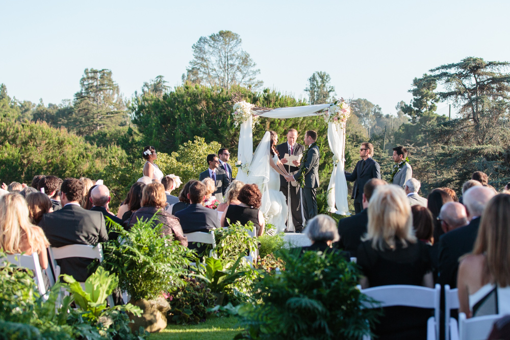 jewish wedding ceremony at Hillcrest Country Club Los Angeles, CA