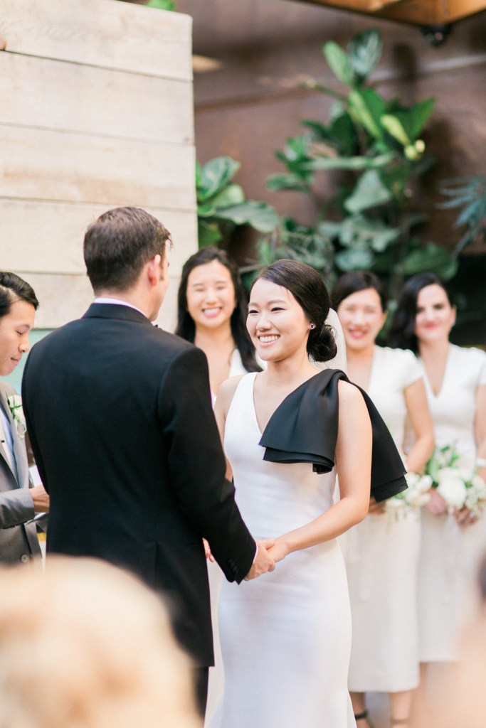bride at Hinoki & the Bird wedding, Moxie Bright Events