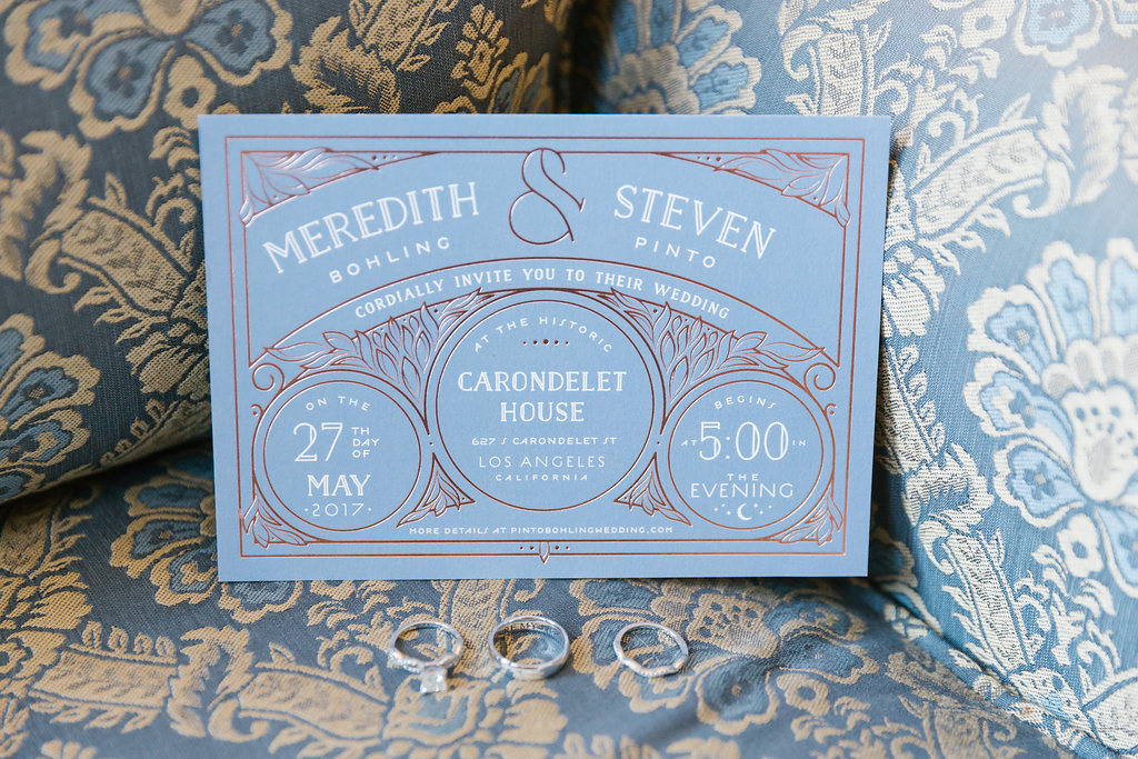 Minted wedding invitation for Carondelet Wedding