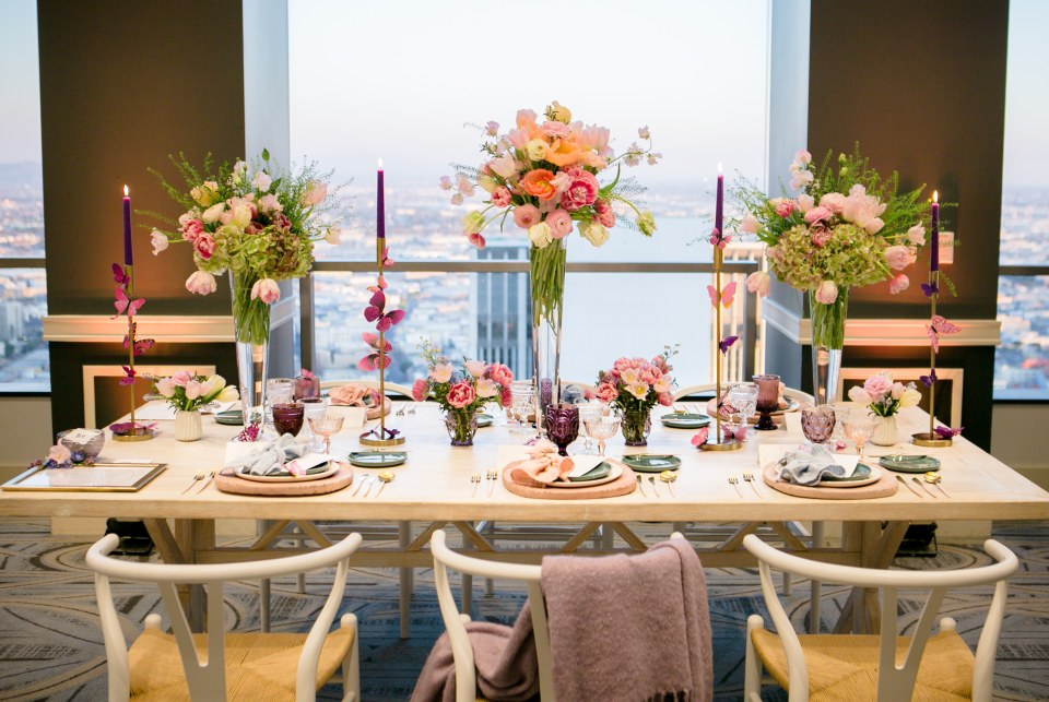 spring table design for City Club Los Angeles