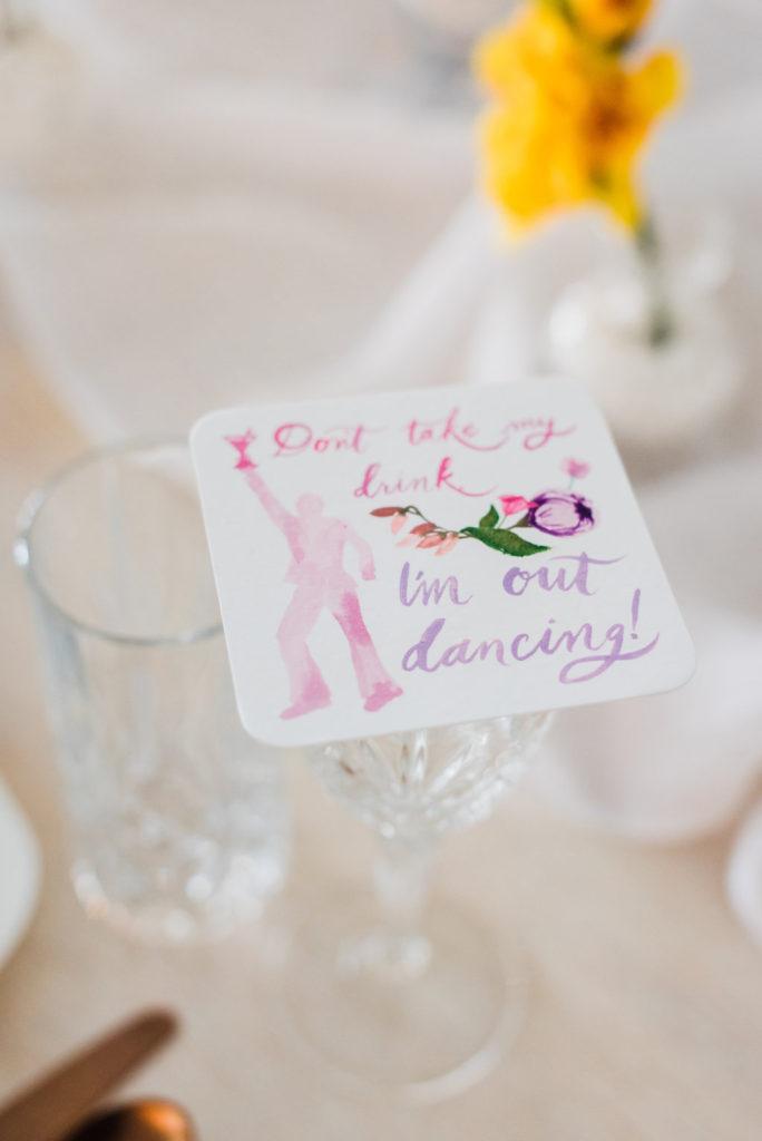 custom wedding coasters, watercolor wedding coasters
