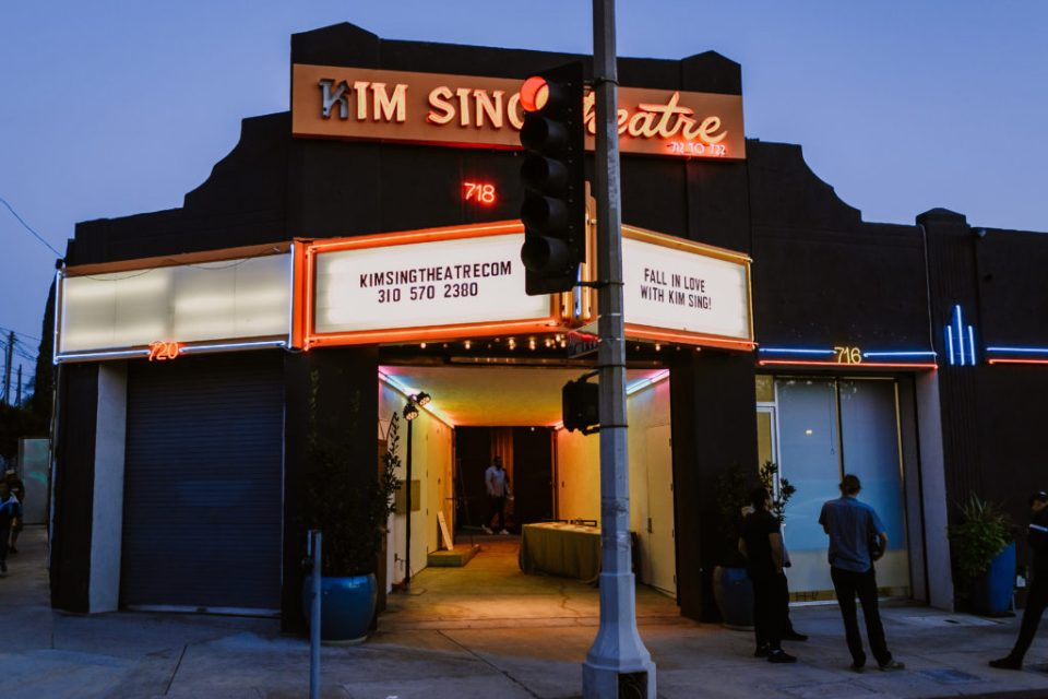 Kim Sing theatre marquee, Los Angeles Wedding Planner Moxie Bright Events,