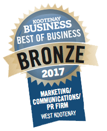 Best in Business Award for Marketing and Communications Firm in the West Kootenay, Revelstoke, Moxie Marketing