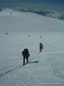 Esquí Montaña: Pala final a cima Breithorn.