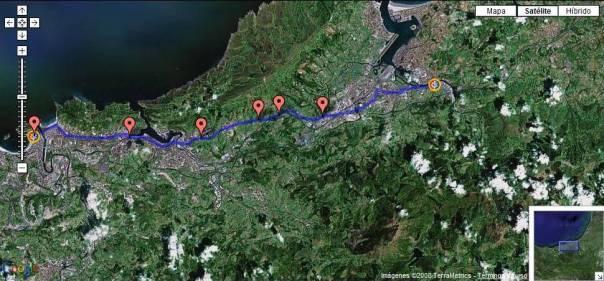 la behobia san sebastian 2012 mapa de carrera