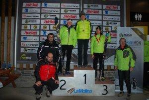 Esquí Montaña Campeonato España cronoescalada 2012. Podio femenino.