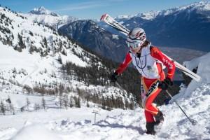 Mireia Miró en plena disputa de Alpiniski 2013