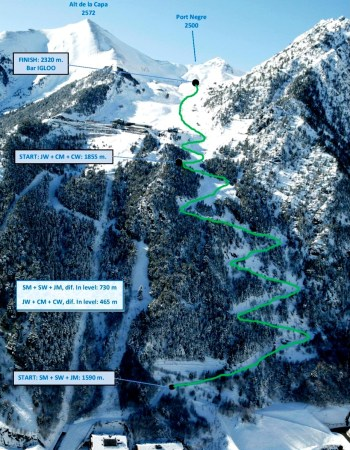 Esqui de Montaña Europeo Skimo Andorra Fontblanca Vertical Arinsal Recorrido 14feb14
