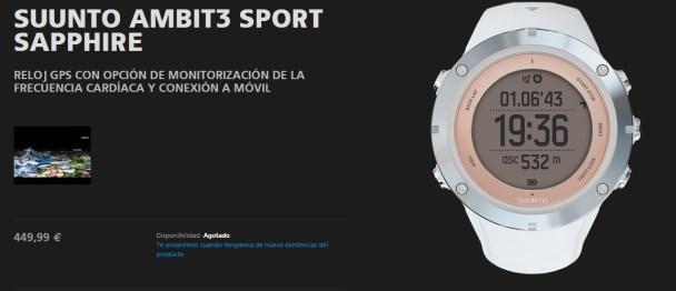 Suunto Ambit 3 Sapphire, presentación oficial marca. Foto Suunto